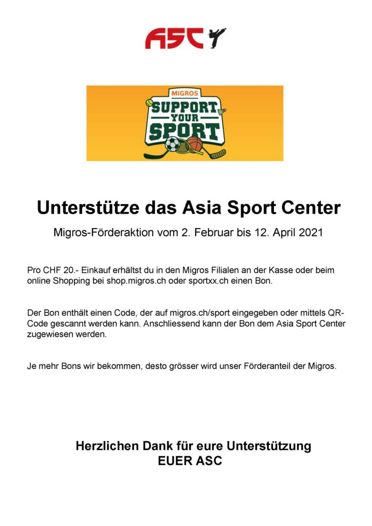 support your sport - ASC